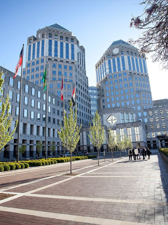 Procter & Gamble's headquarter building.